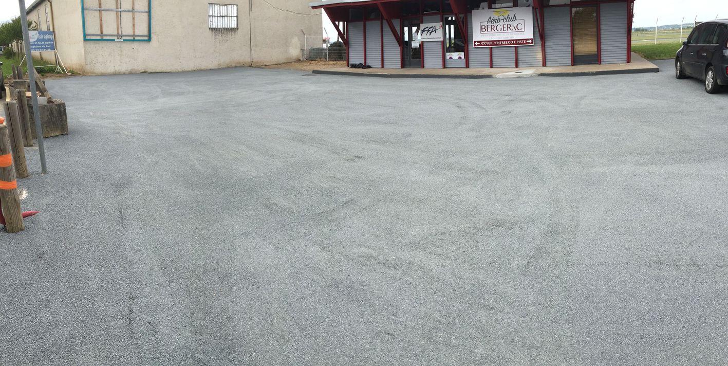Nouveau parking Aéroclub de Bergerac